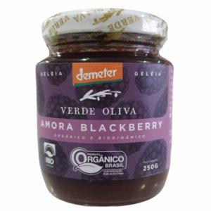 Geleia de amora organicoe biodinamico verde oliva 250gr